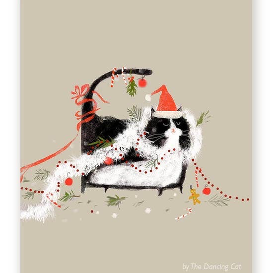 Merry Mess - Funny Christmas Cat Card