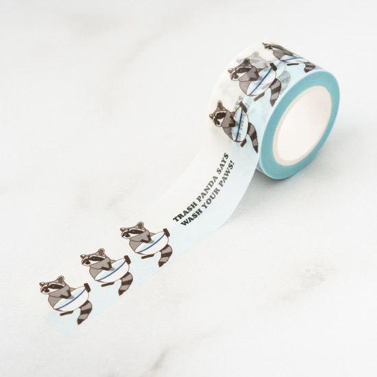 Trash Panda Wash Your Hands Washi Tape