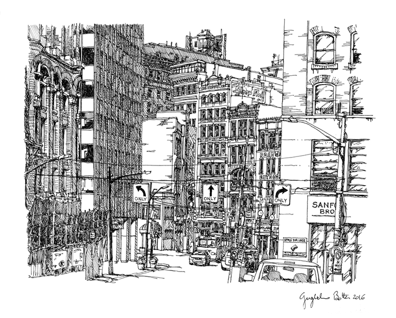 Downtown View of Liberty Avenue from 7th Street Card