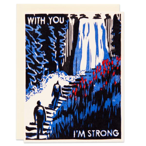 With You I'm Strong Card