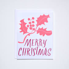 Merry Christmas Neon Holly Card