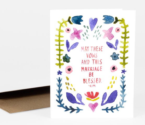 May These Vows Be Blessed Wedding Card