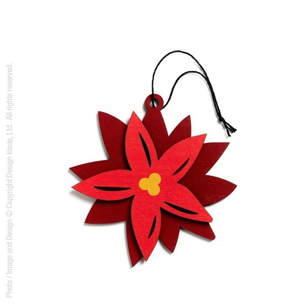HollyJolly Ornament- Poinsettia