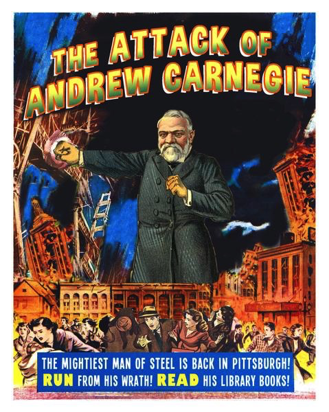 "Attack of Andrew Carnegie Print (11"" x 14"")"