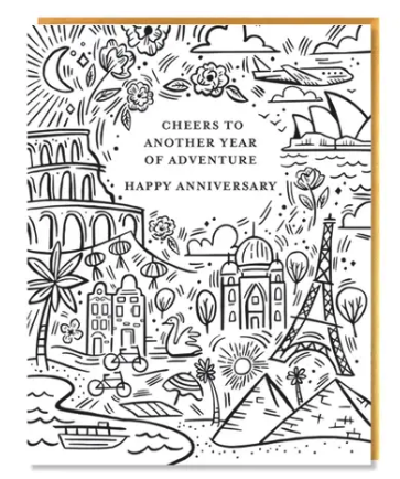 Adventure Anniversary Card