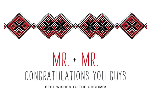 Mr. & Mr. Grooms Wedding Card