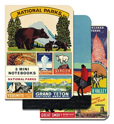 National Parks Mini Notebooks (set of 3)