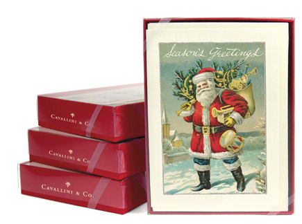 Vintage Santa Claus Boxed Cards