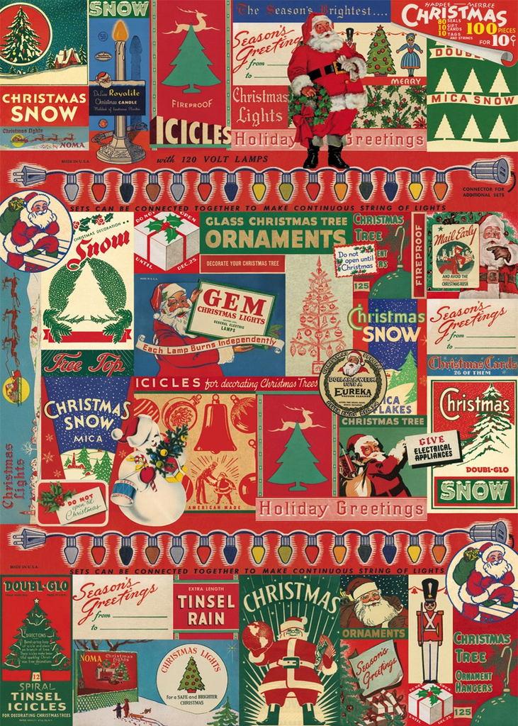 Vintage Christmas Wrap Sheet