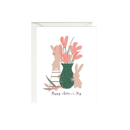 Mother's Day Bunny Bouquet Card