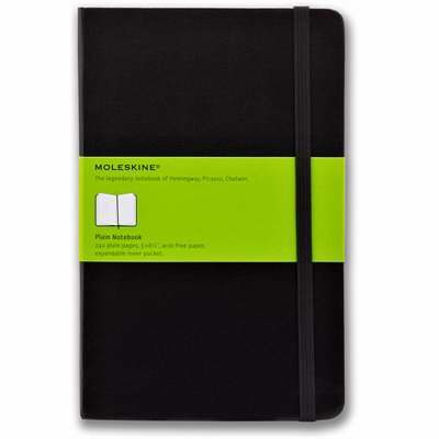 Hard Cover Blank Classic Notebook (Black)