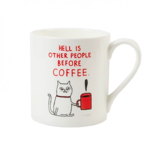 Hell Is Other People Before Coffee Mug