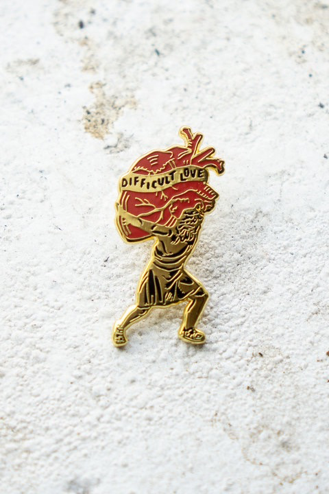 Difficult Love Enamel Pin