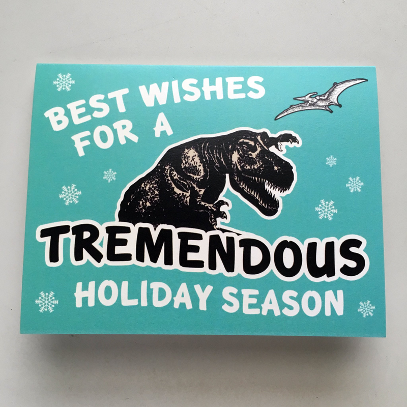 Holiday Dino Card (tremendous)
