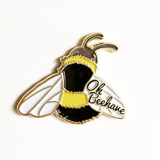 Oh Beehave Bumble Bee Enamel Pin