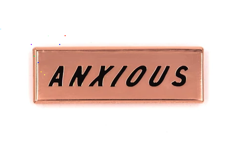 Anxious Enamel Pin