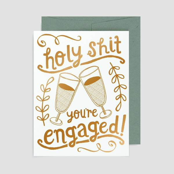 Allison Cole - Holy Shit You're Engaged Card
