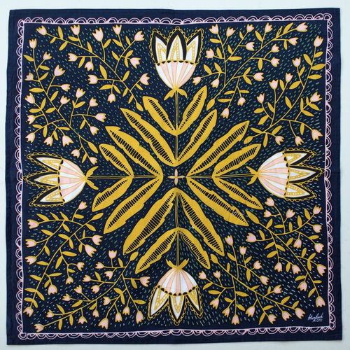 Tulips Premium Cotton Bandana