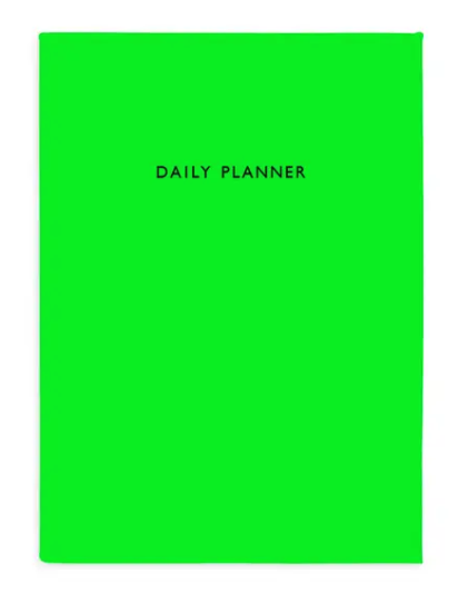 Un-Dated Neon Green Planner