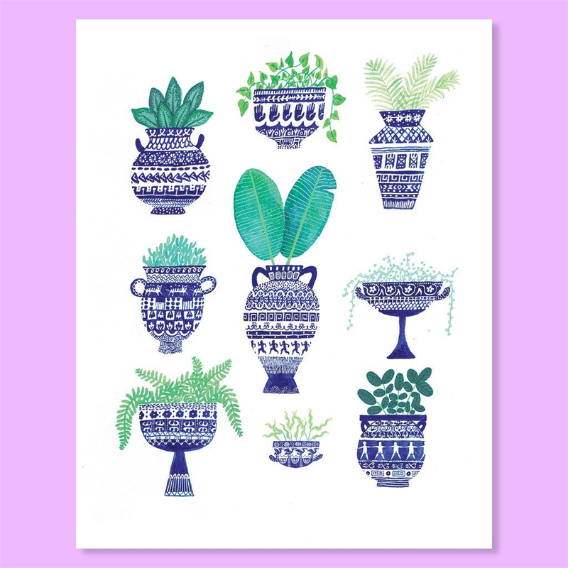 Cactus Club - Greek Greenery Print