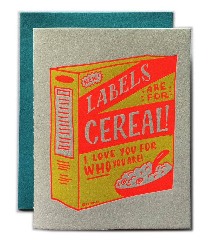 Label Are For Cereal Card