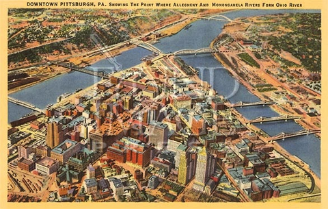 View Over Pittsburgh Print