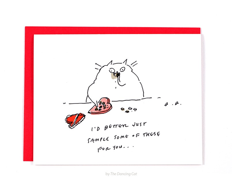 The Sampler - Valentine Cat Card