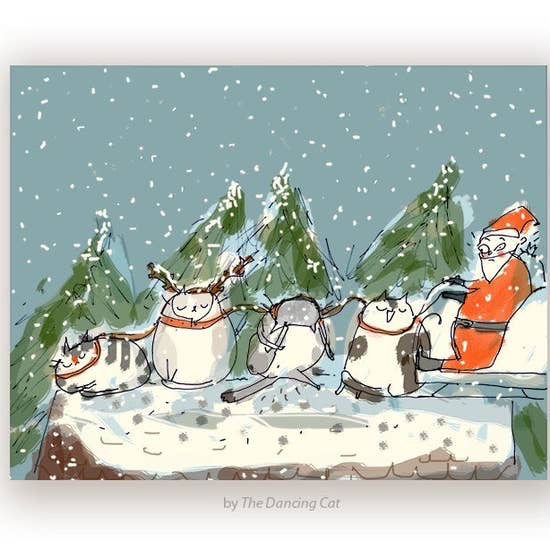 Reindeer Cats Holiday Card