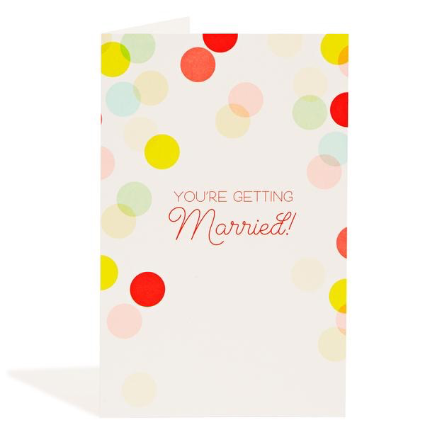 Getting Married Confetti Card