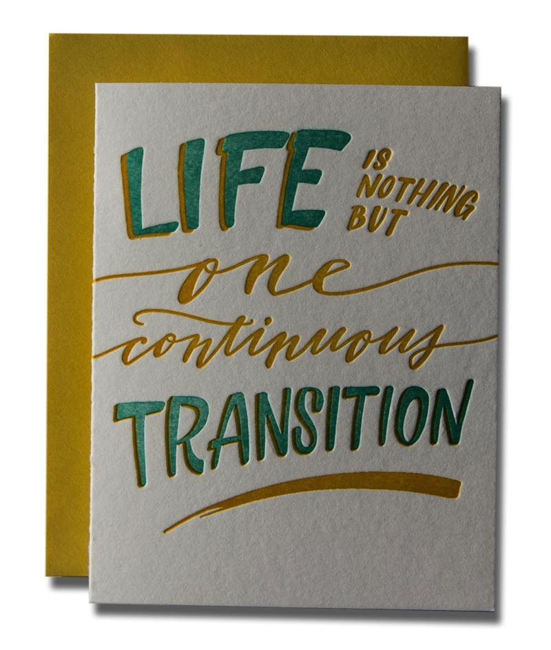 One Continuous Transition Card