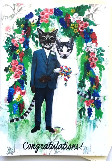 Cats Wedding Card
