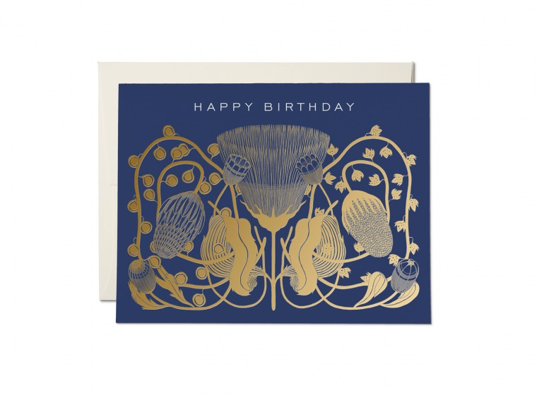 Cobalt Happy Birthday Card