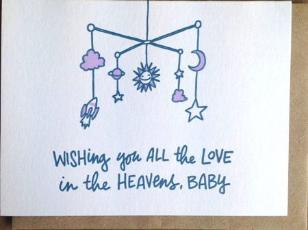 All the Love in the Heavens Baby Card