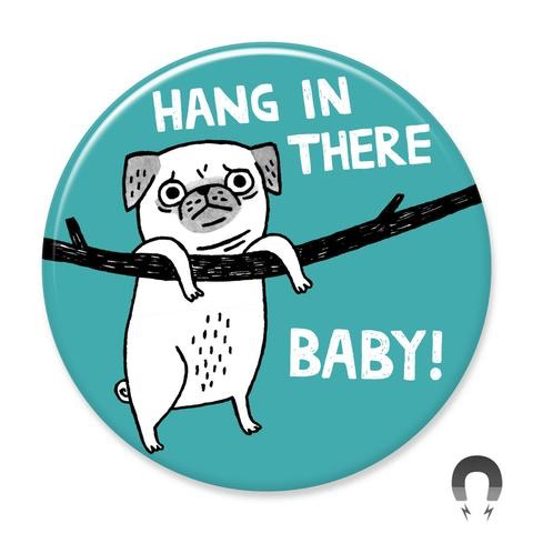 Hang in There Baby Pug Magnet