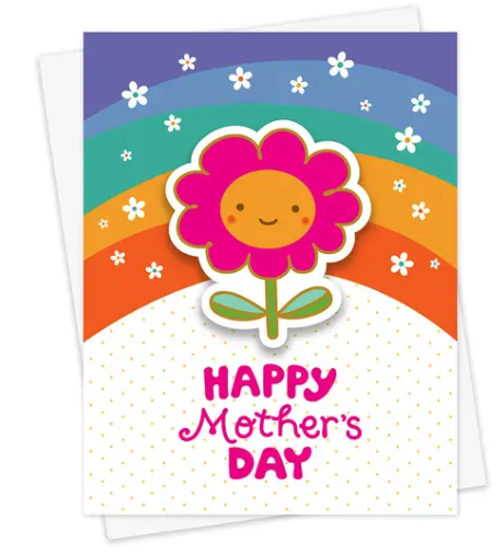 Mom Blossom Sticker Mother's Day Card