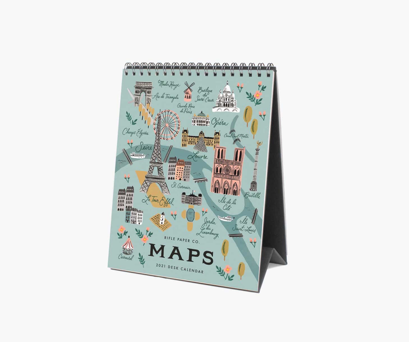 City Maps Desk Calendar