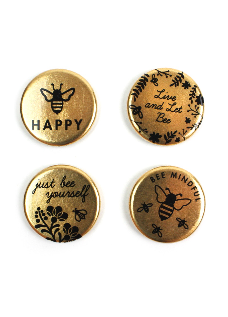 Bee Gold Magnet Set
