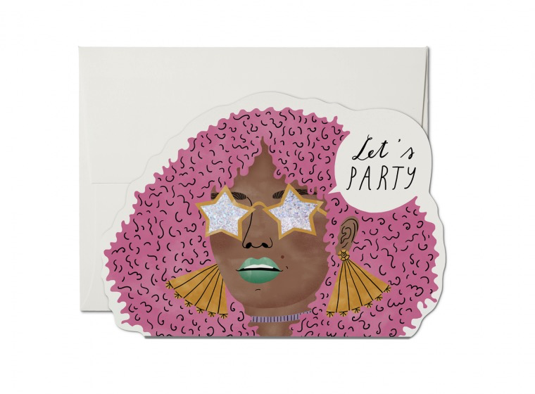 Disco Glam Die Cut Card