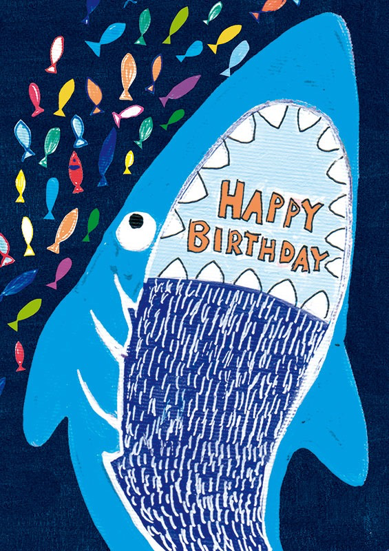 Shark - Birthday Card