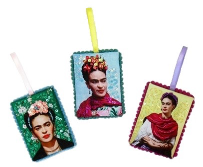 Fabric Frida Ornament
