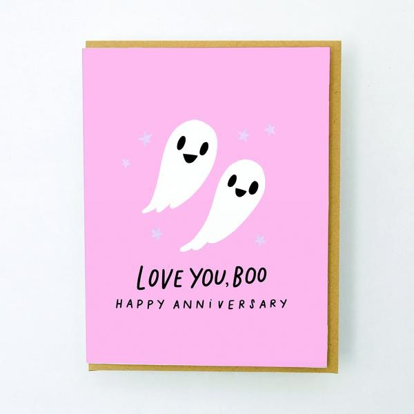 Love You, Boo Anniversary Caed