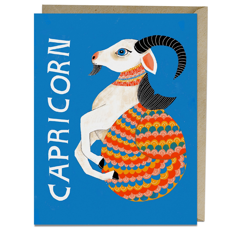 Capricorn Zodiac Birthday Card