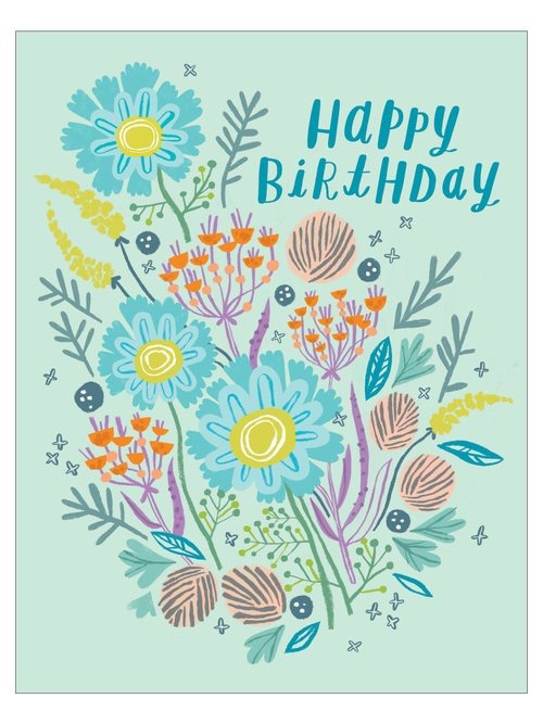 Bundle Bouquet Birthday Card