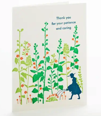 Patience and Caring Thank You Card