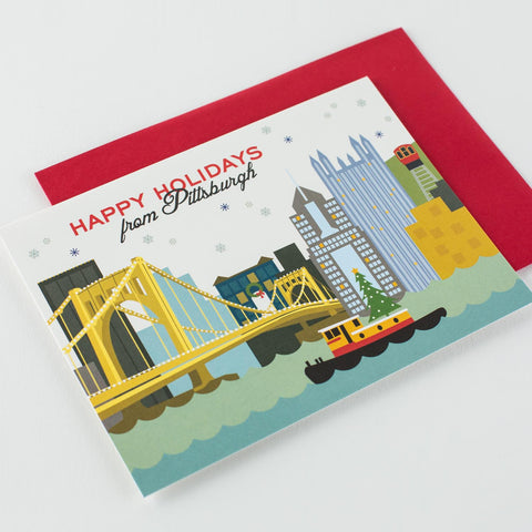 Pittsburgh Tugboat Holiday Card