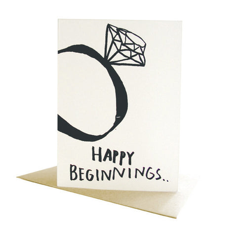 Happy Beginnings Wedding Card