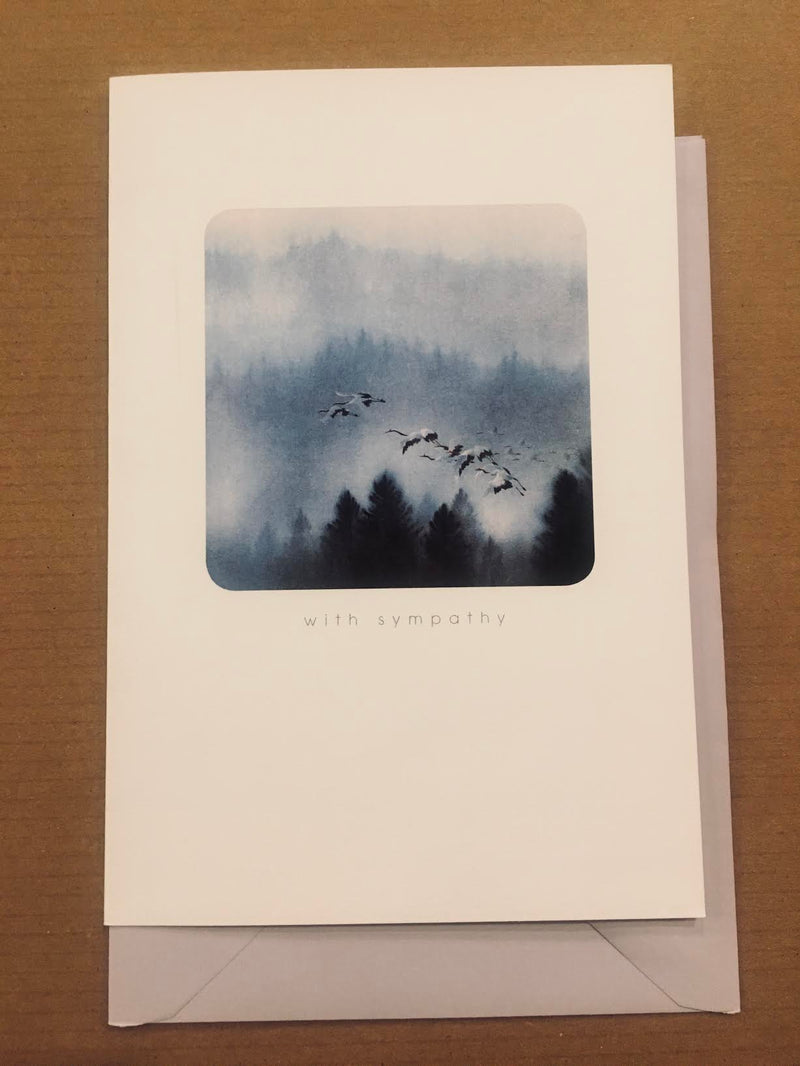Misty Mountain Sympathy Card