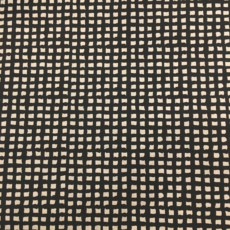Grids (black on cream) Handmade Paper (Pick Up Only)