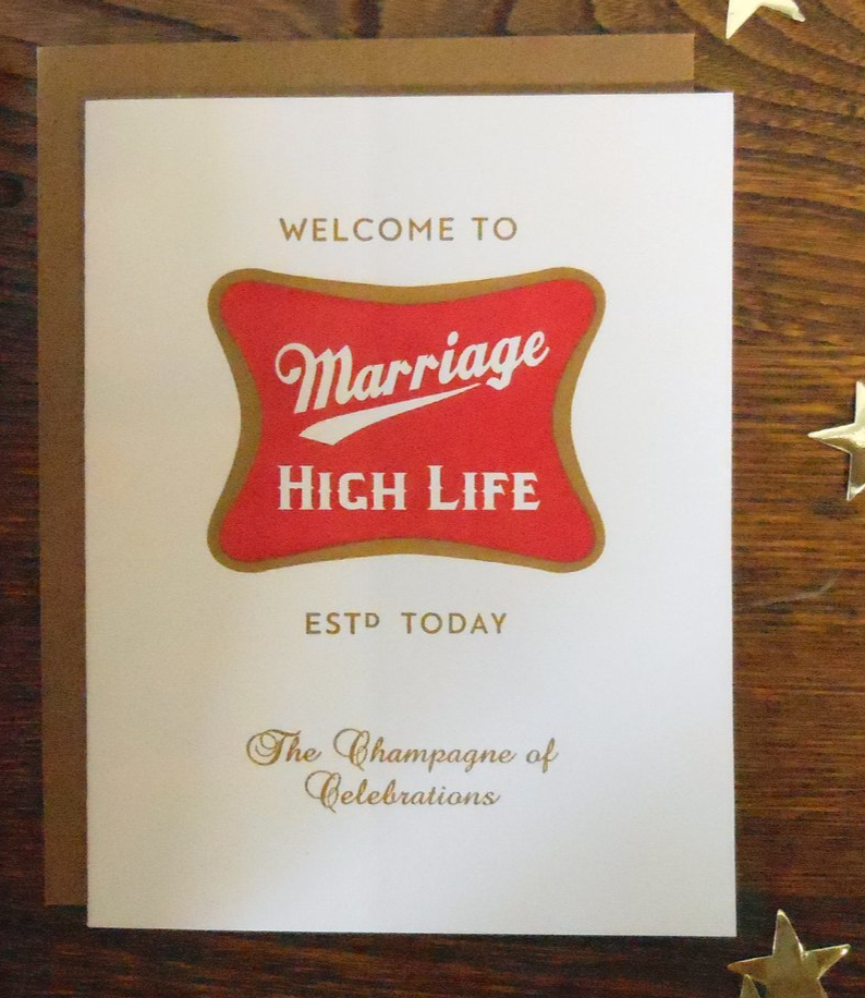 Marriage High Life Wedding Card