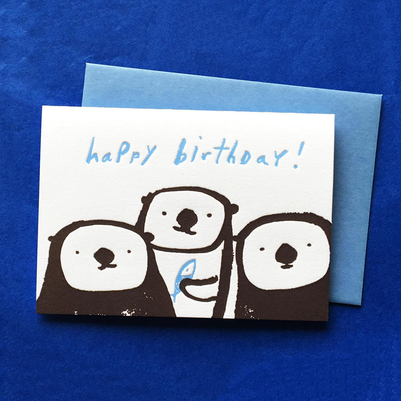 Otters Birthday Card